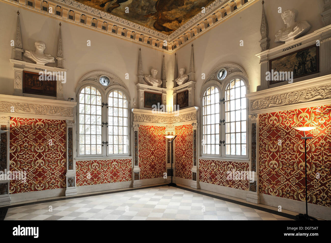 Restored Hirsvogel Hall Built In 1534 In The Style Of The Italian Stock Photo Alamy