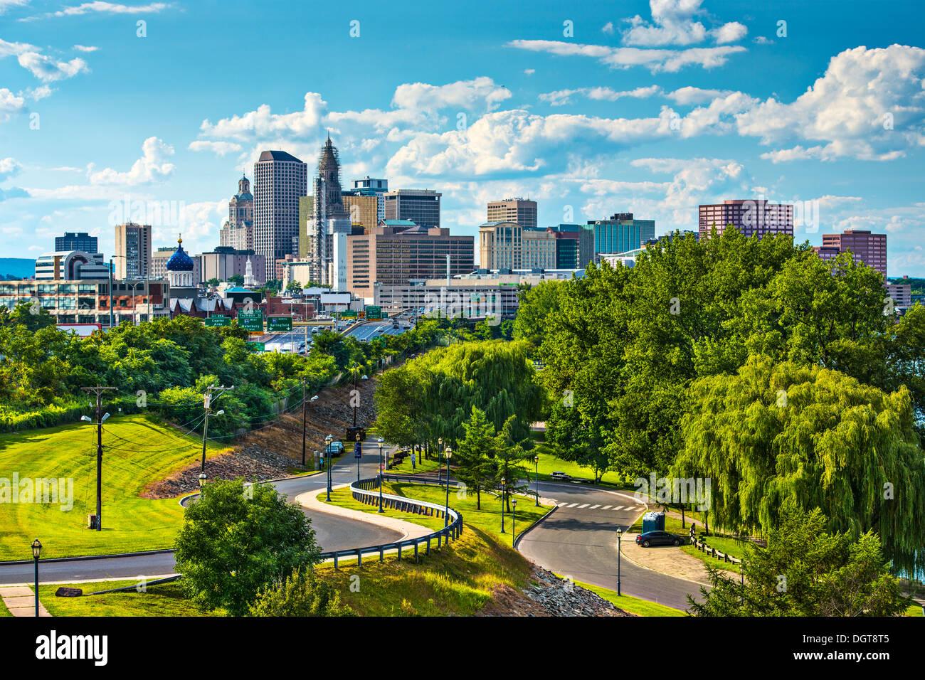 Hartford, Connecticut, USA downtown cityscape. Stock Photo
