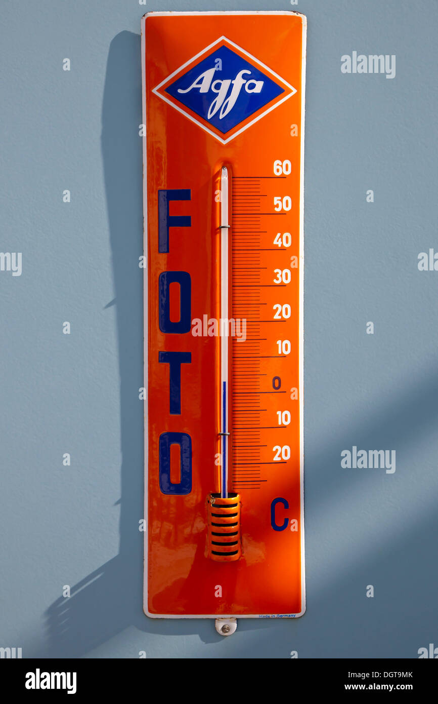 Old thermometer from Agfa Foto - Stock Image
