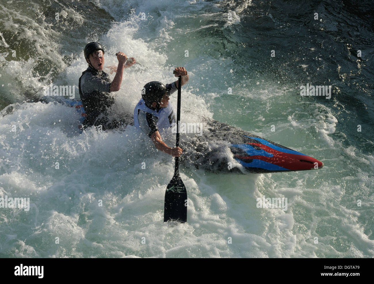 Whitewater kayaking - Stock Image