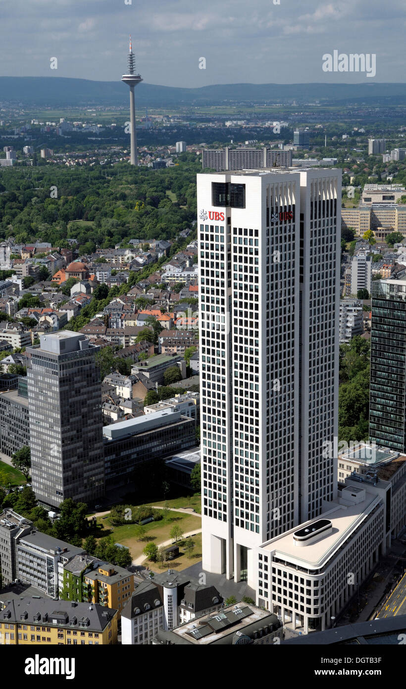 UBS Tower, Europa Tower, Frankfurt am Main, Hesse - Stock Image
