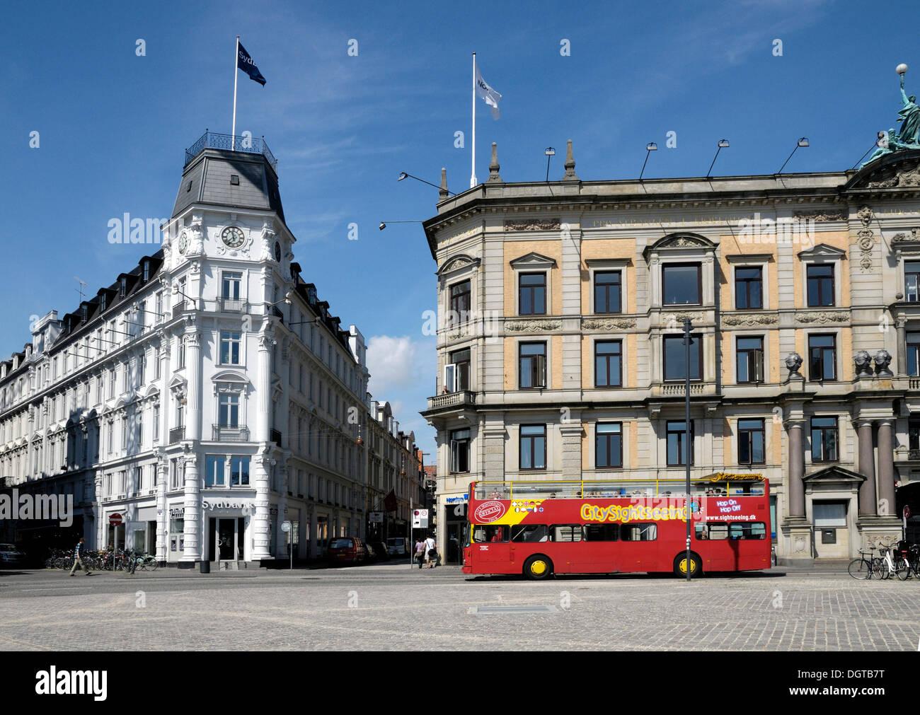 Kongens Nytorv square, Copenhagen, Denmark, Scandinavia, PublicGround - Stock Image