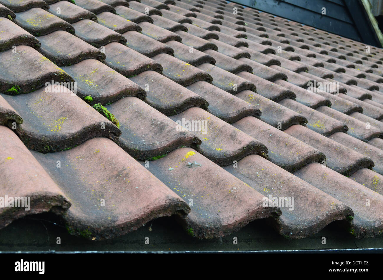 Wavy Clay Roof Tiles Stock Photo 62006170 Alamy