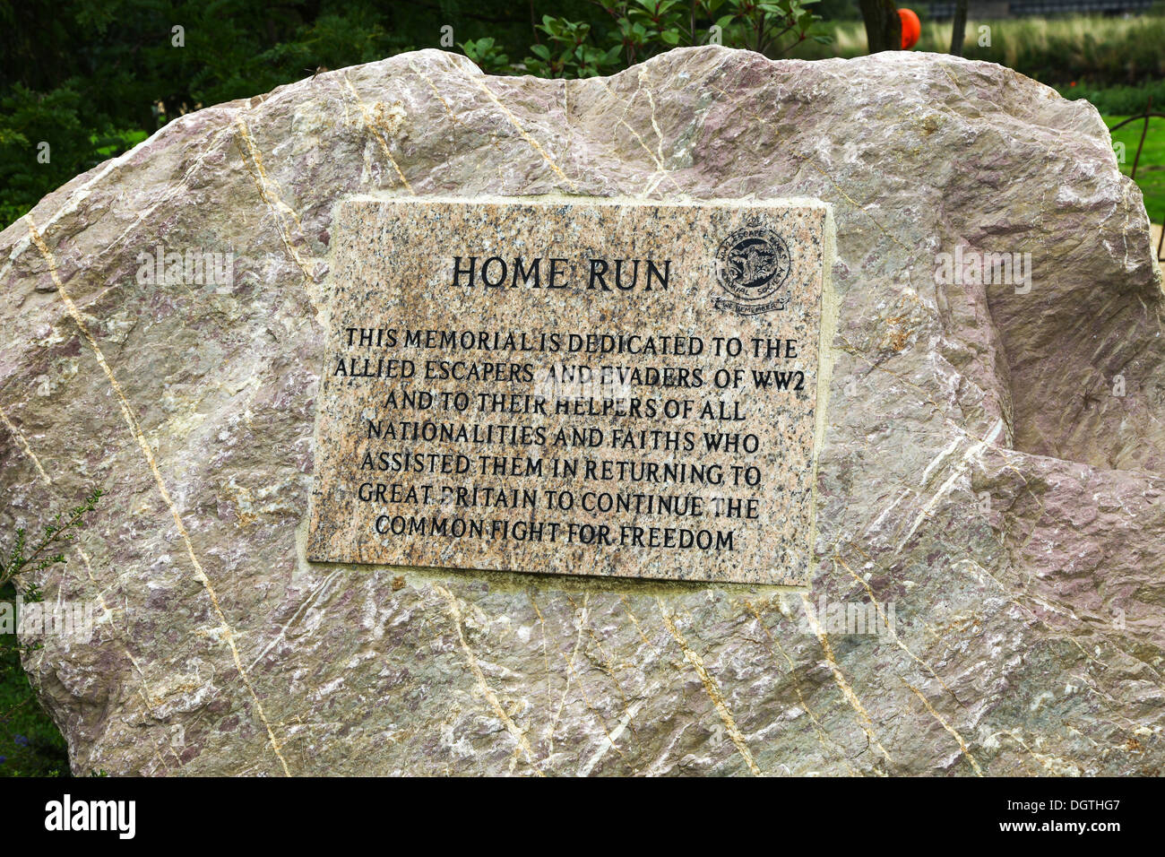 The Home Run memorial dedicated to allied escaper's and evaders of world war two at the National Memorial Arboretum, Alrewas, near Lichfield, England - Stock Image