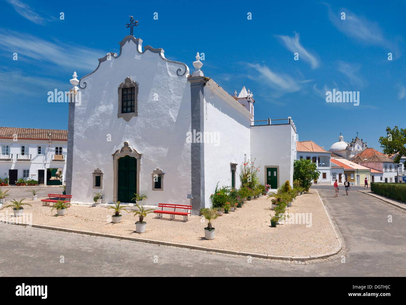 Portugal, the Algarve, Tavira, one of the many churches, the Ermida de Sao Bras - Stock Image