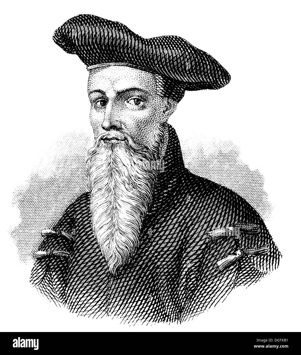 Johann Fust or Faust, c. 1400 - 1466, an early German printer Stock Photo