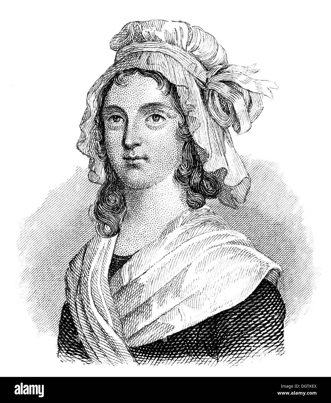 Marie Anne Charlotte Corday d'Armont, 1768 - 1793, a French noblewoman, murder of Jean-Paul Marat, French Revolution Stock Photo
