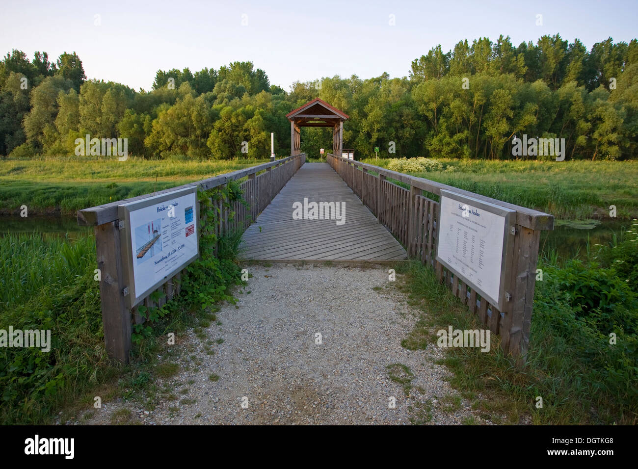 Andau Bridge, after the crushing of the Hungarian uprising, tens of thousands of people fled to Austria through here, Seewinkel - Stock Image