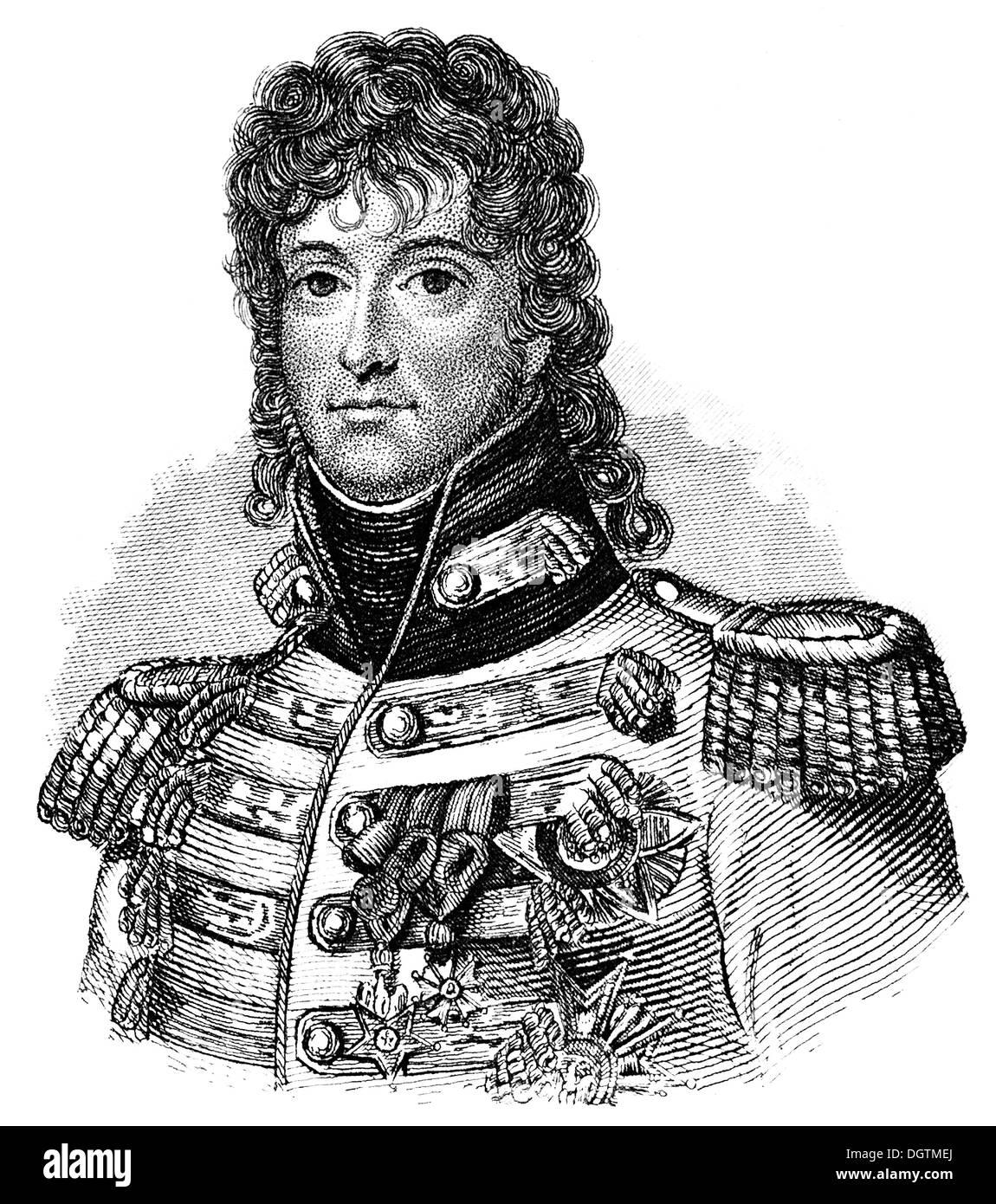 Joachim-Napoléon Murat, 1767-1815, Marshal of France, Admiral of France, King of Naples, - Stock Image