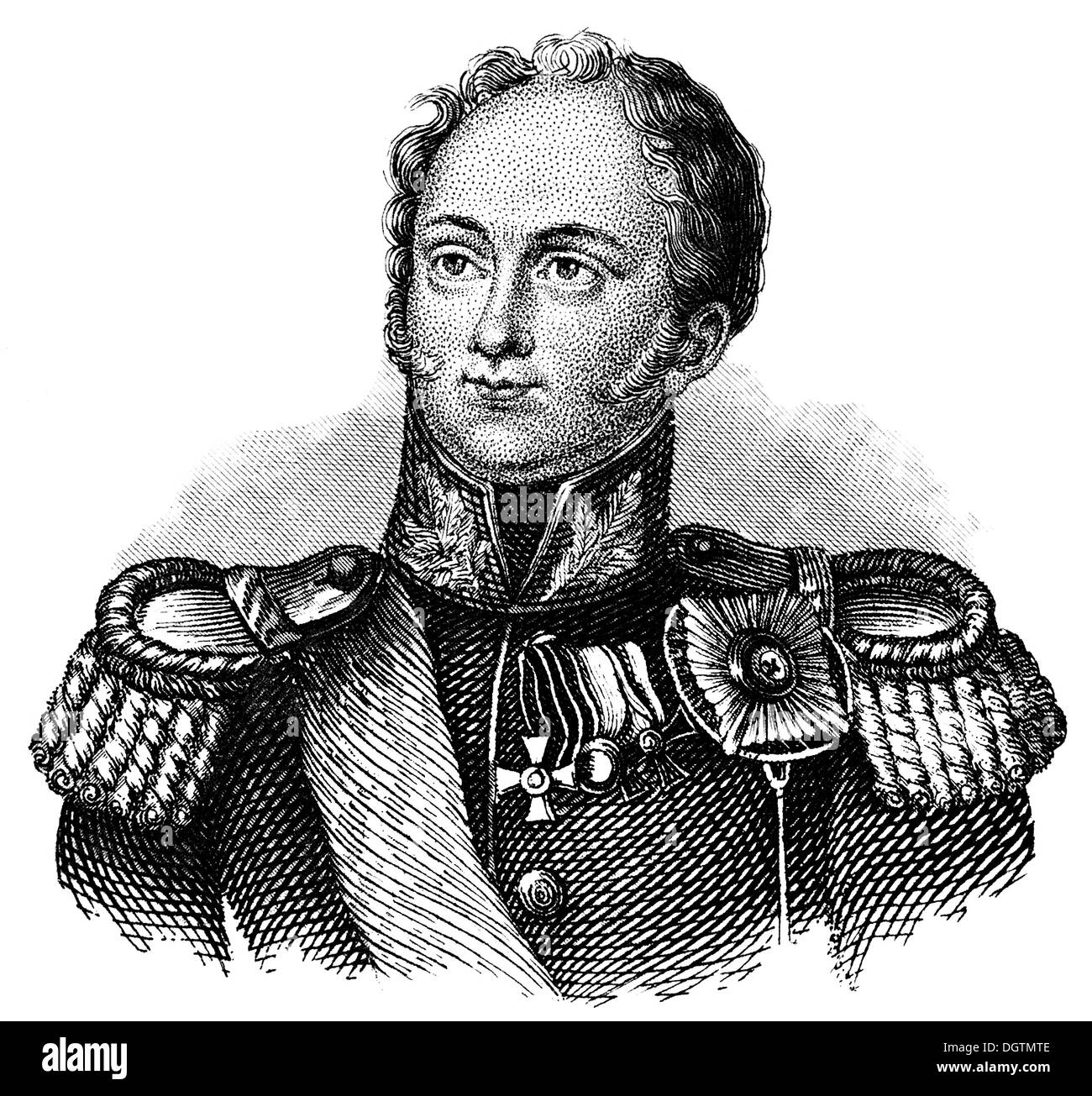 Alexander I of Russia, Alexander the Blessed 1777 - 1825, Emperor of Russia, - Stock Image