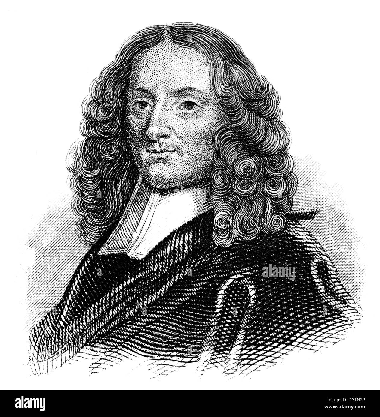 Pierre Bayle, 1647 - 1706, a French writer and philosopher, - Stock Image