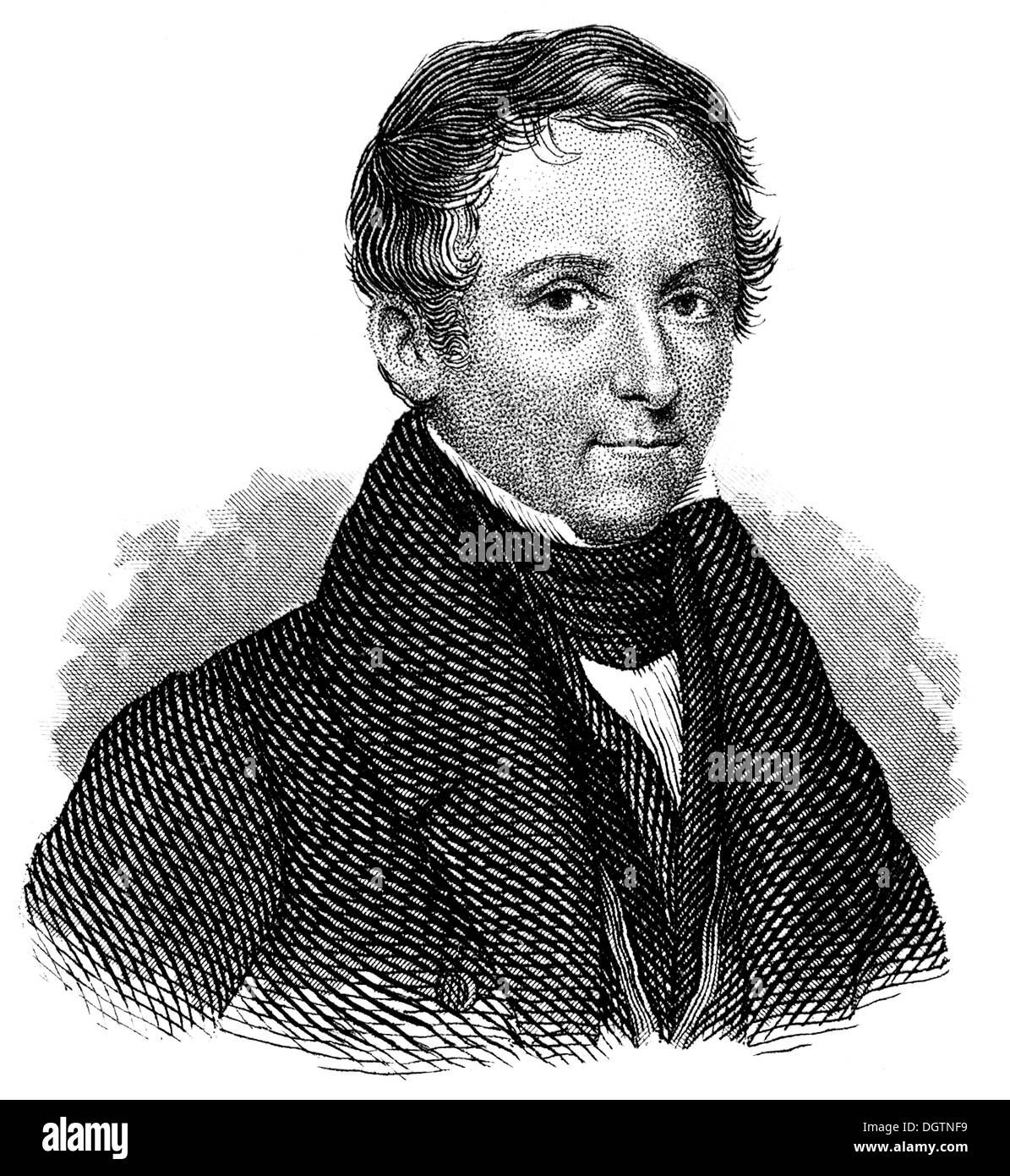 Vincenz Priessnitz or Prießnitz 1799-1851 the founder of modern hydrotherapy Stock Photo
