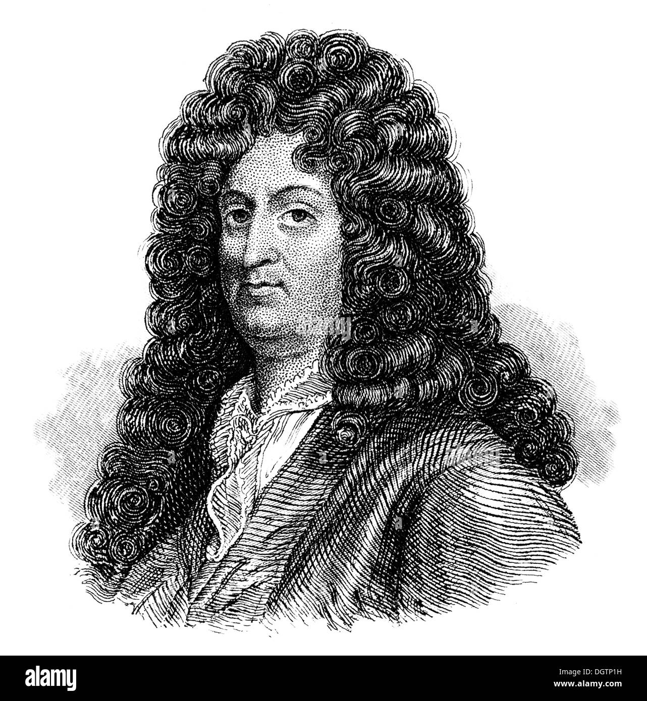 Jean Baptiste Racine, 1639 - 1699, an author of the French classicism - Stock Image