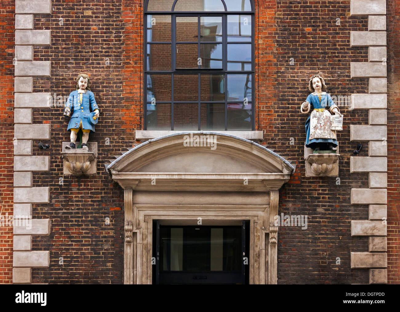 Wren House, Hatton Garden, Holborn, London, detail - Stock Image