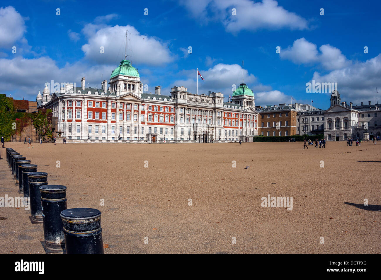 Horse Guards Parade and Ministry of Defence, London - Stock Image