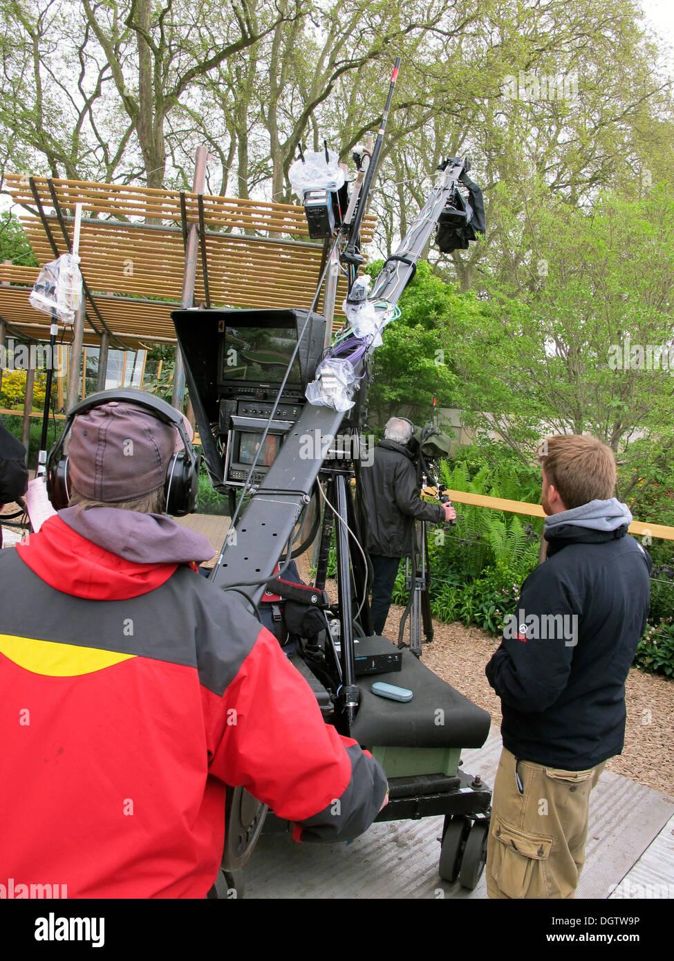 television camera man, - Stock Image