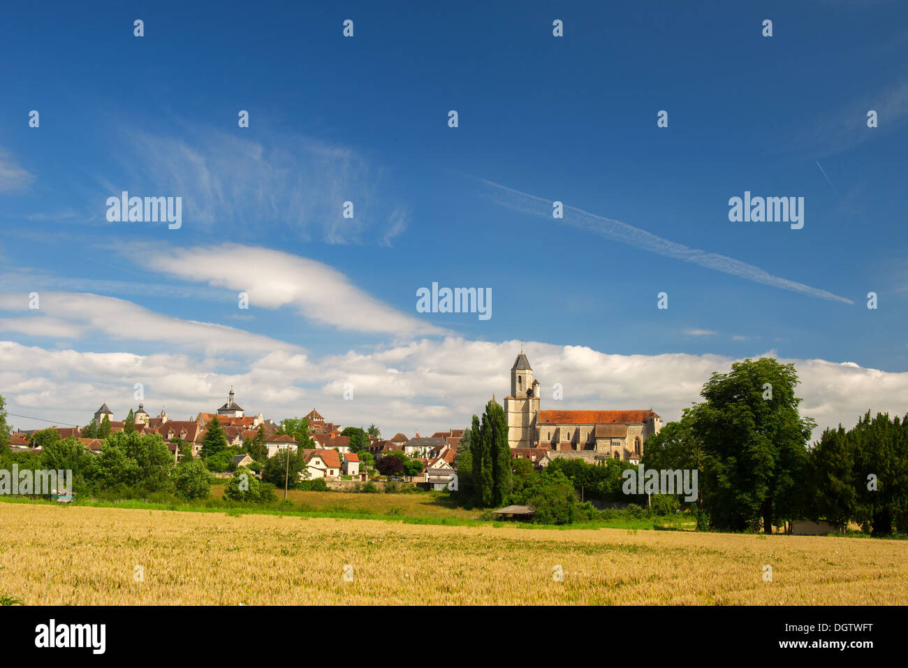 Village Martel with the seven towers in region The Lot in France Stock Photo