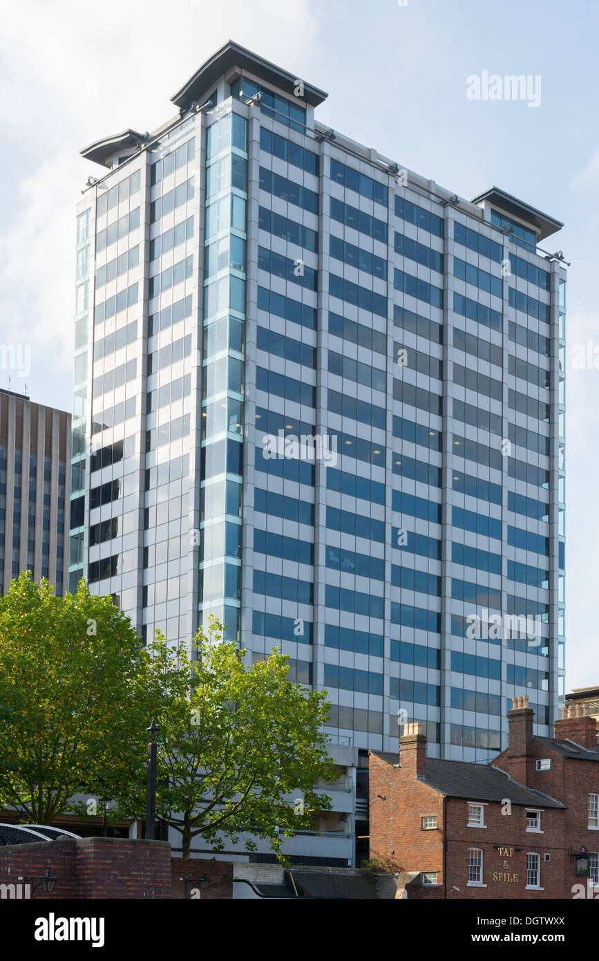 Quayside building, Broad Street, Birmingham, West Midlands, England, UK - Stock Image