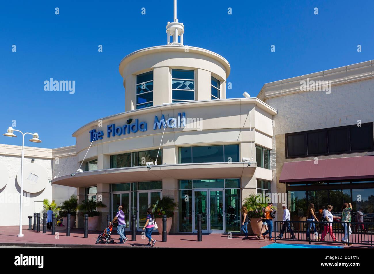 Entrance to The Florida Mall, Orlando, Central Florida, USA - Stock Image
