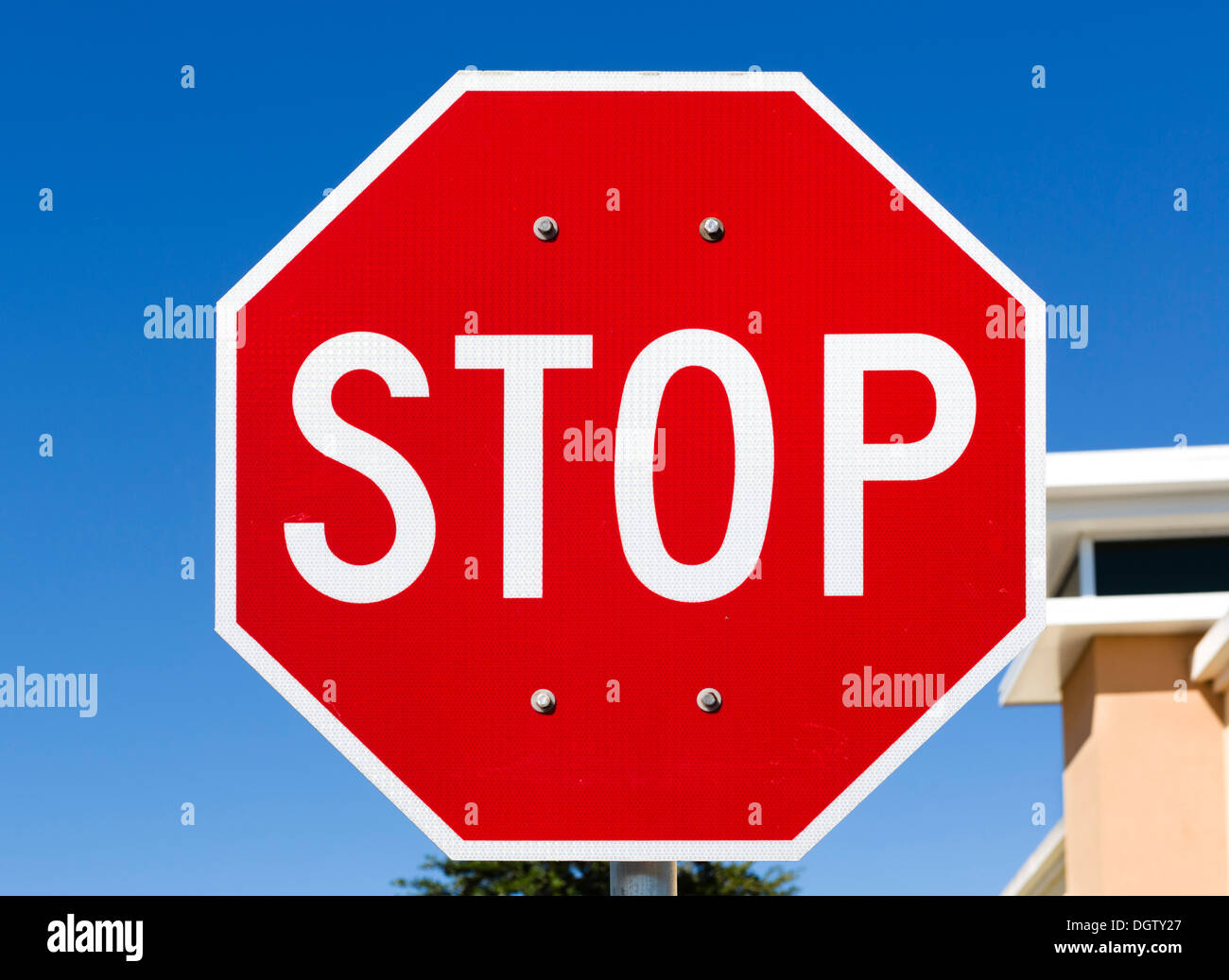 Stop Sign, Florida, USA - Stock Image