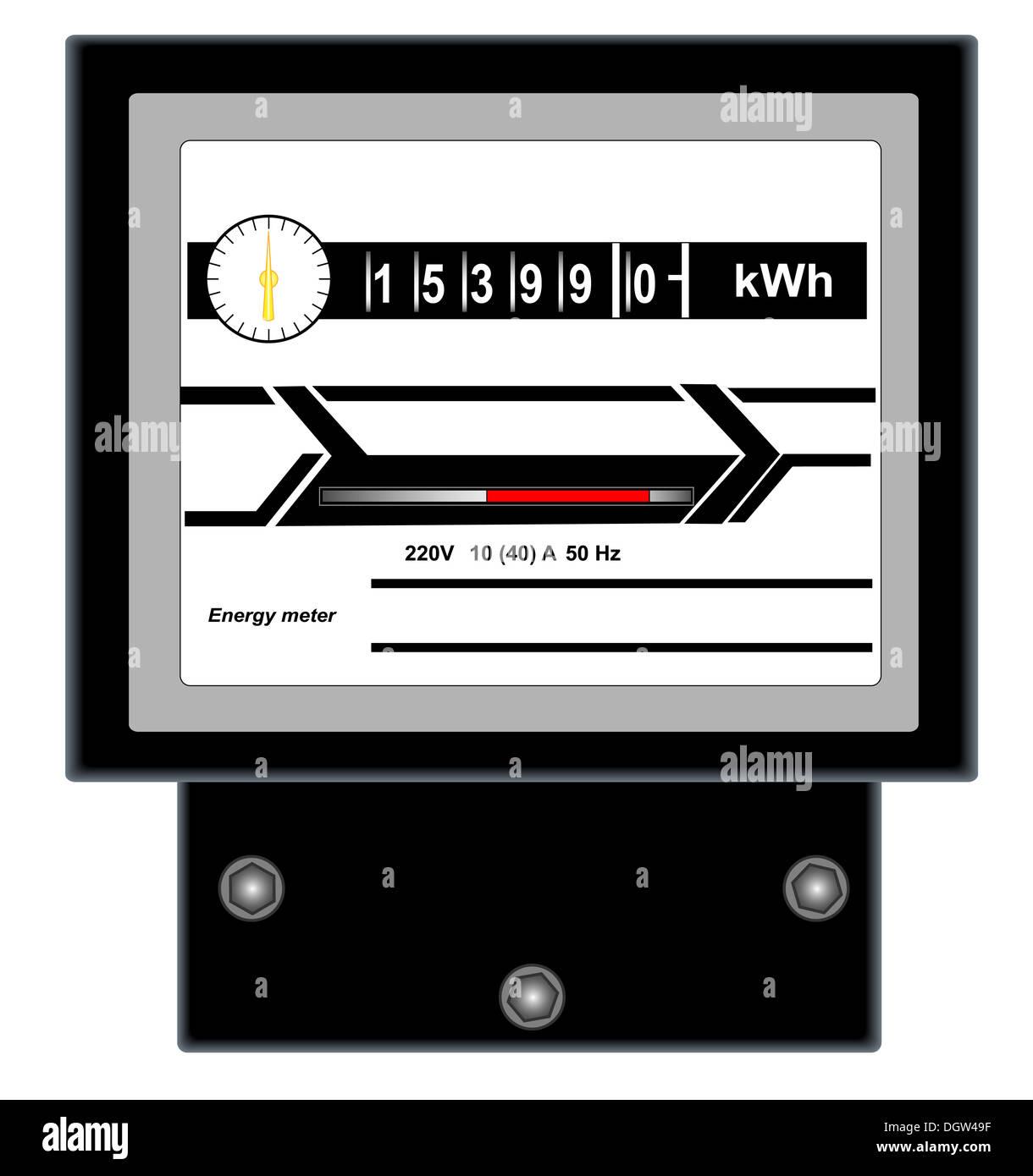 Energy meter - Stock Image