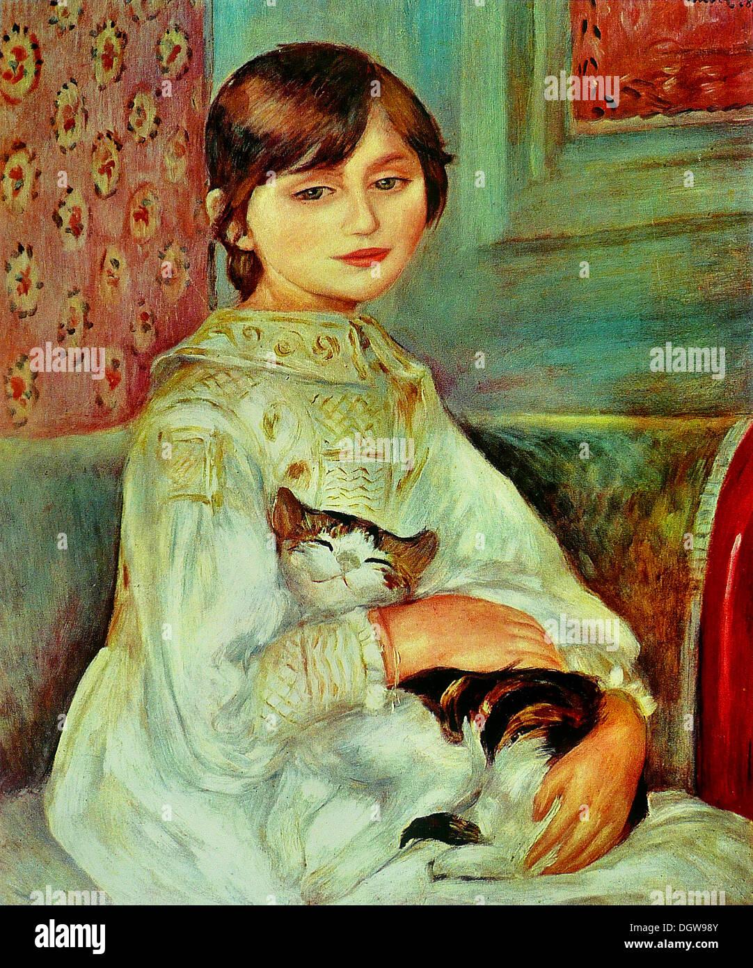 Julie Manet - by Pierre-Auguste Renoir, 1887 - Stock Image