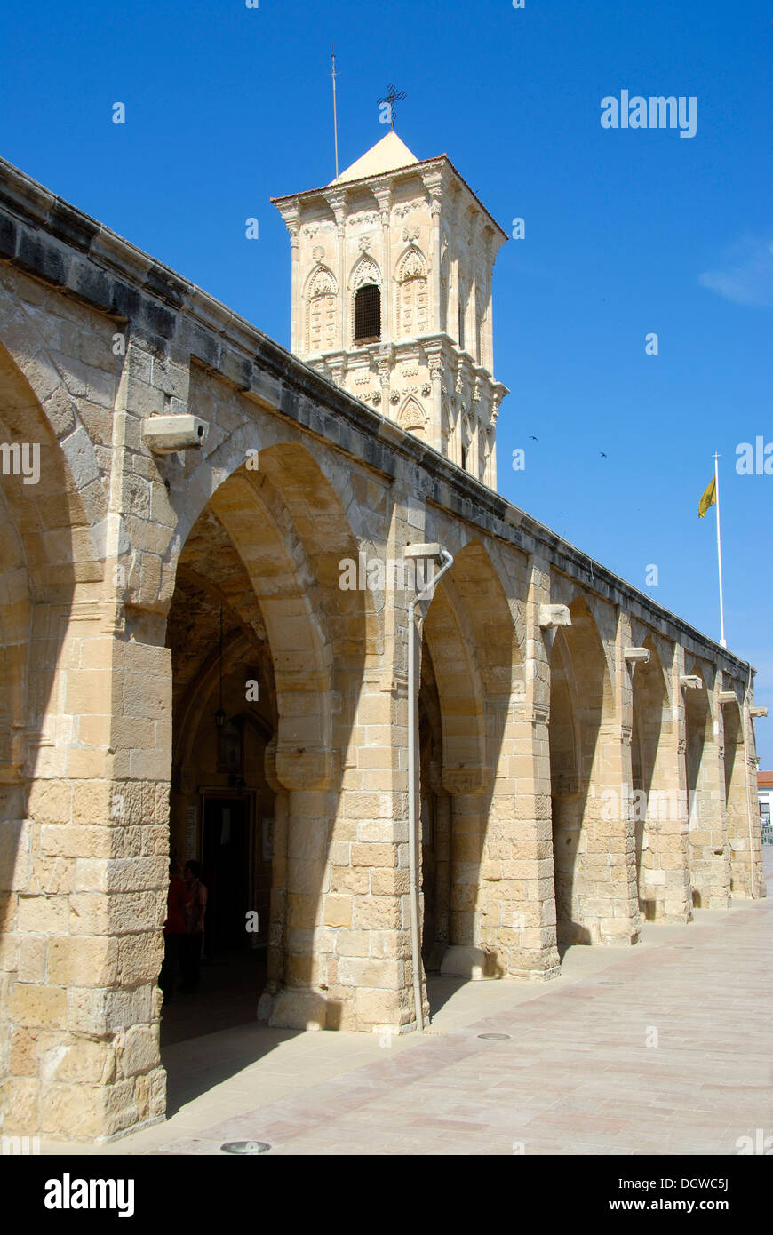 Greek Orthodox Christianity, Lazarus Church, Agios Lazaros Church, arches and tower, Larnaca, Southern Cyprus - Stock Image