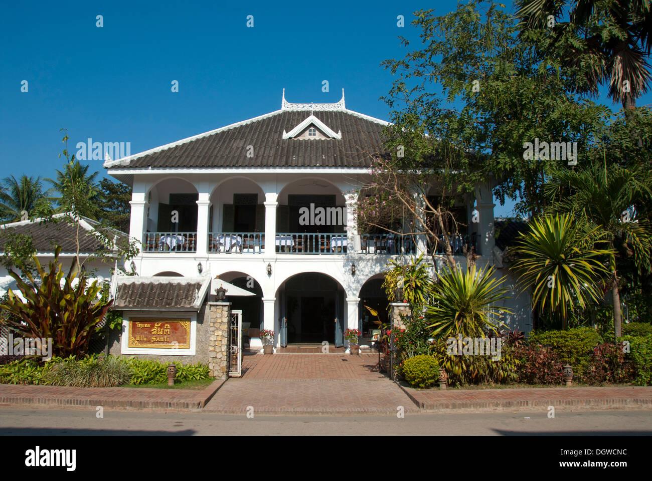 House French Colonial Era Hotel Boutique Villa Santi Luang Prabang Province Laos Southeast Asia