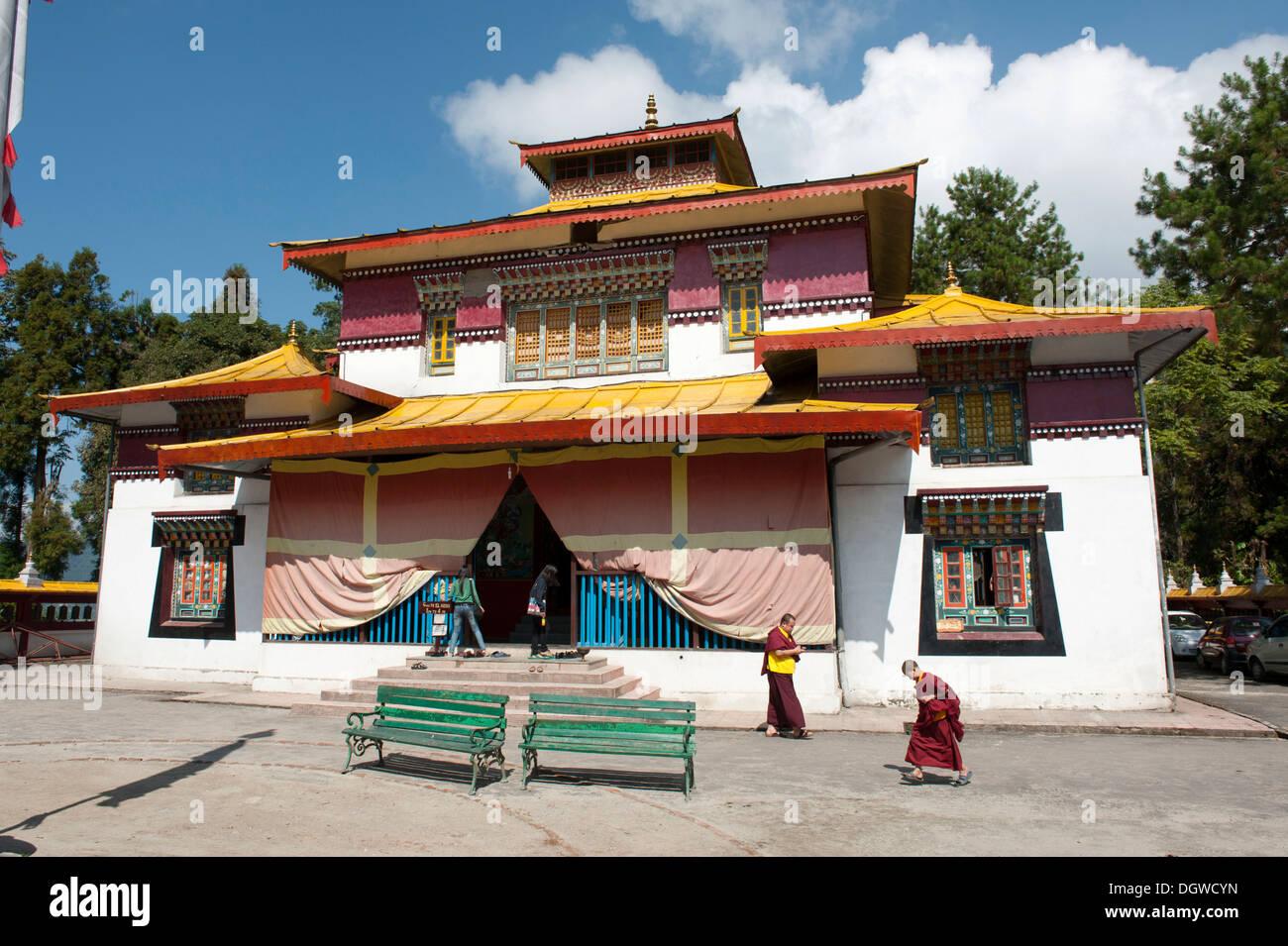 Tibetan Buddhism, Enchey Gompa Monastery, Gangtok, Sikkim, Himalayas, India, South Asia, Asia - Stock Image