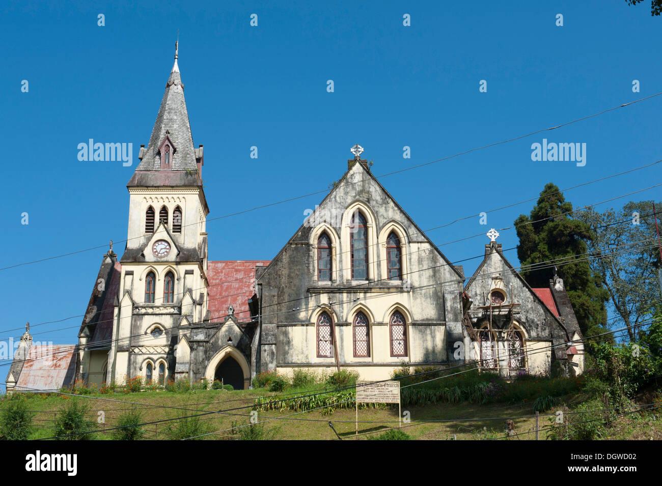 St. Andrew's Church, British colonial era, Darjeeling, West Bengal, Lower Himalayan Range, India, South Asia, - Stock Image