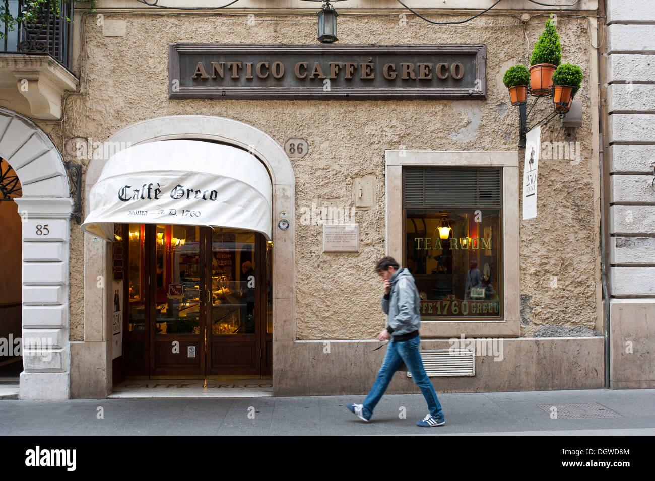 Antico Caffè Greco in Via Condotti, Rome, Lazio, Italy, Southern Europe, Europe - Stock Image