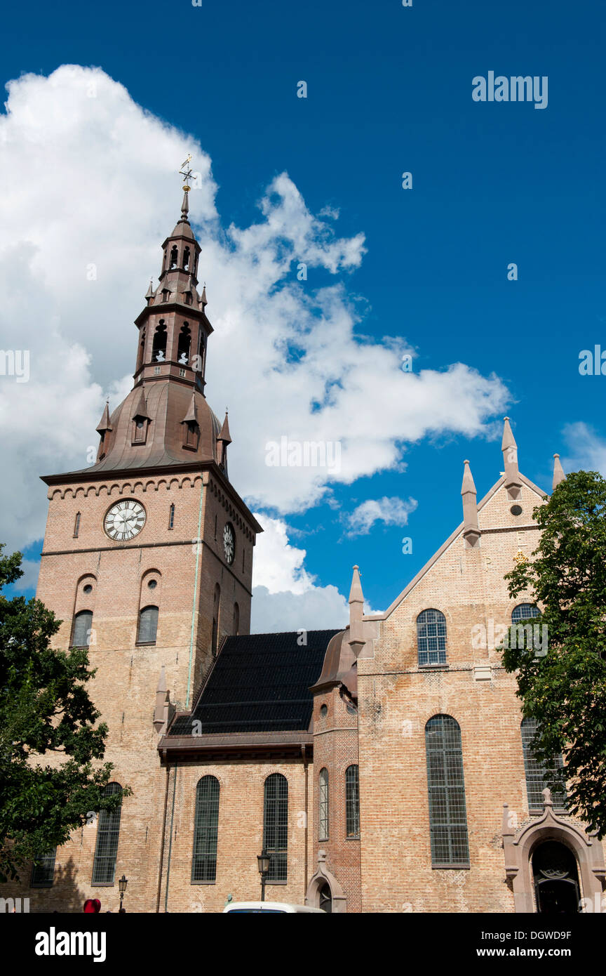 Oslo Cathedral, Oslo Domkirke, Lutheran cathedral, Oslo, Norway, Scandinavia, Northern Europe, Europe - Stock Image