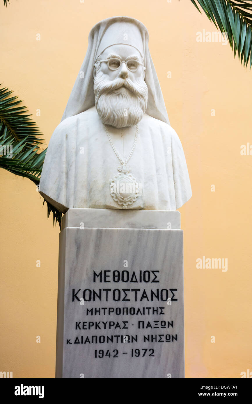 Methodios Kontostanos (1881-1972) became metropolitan (bishop of Corfu), Ionian Islands, Greek Islands, Greece, Europe - Stock Image