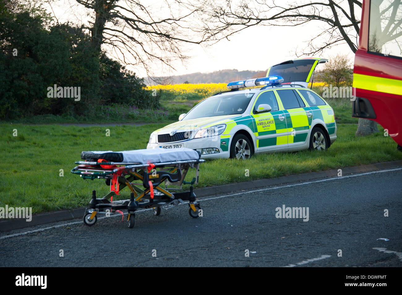 Ambulance Paramedic Rapid Response Vehicle RRV - Stock Image
