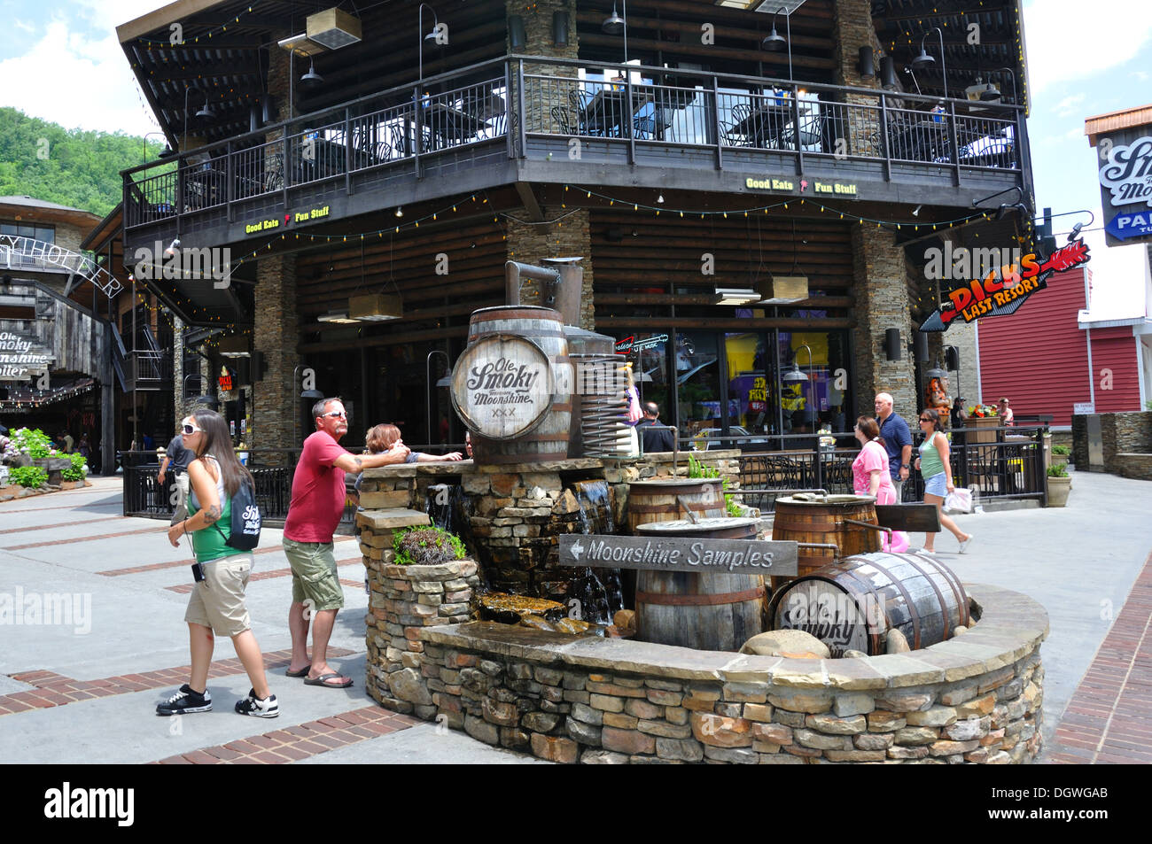 Ole Smoky Moonshine Holler, Gatlinburg, Tennessee, USA - Stock Image