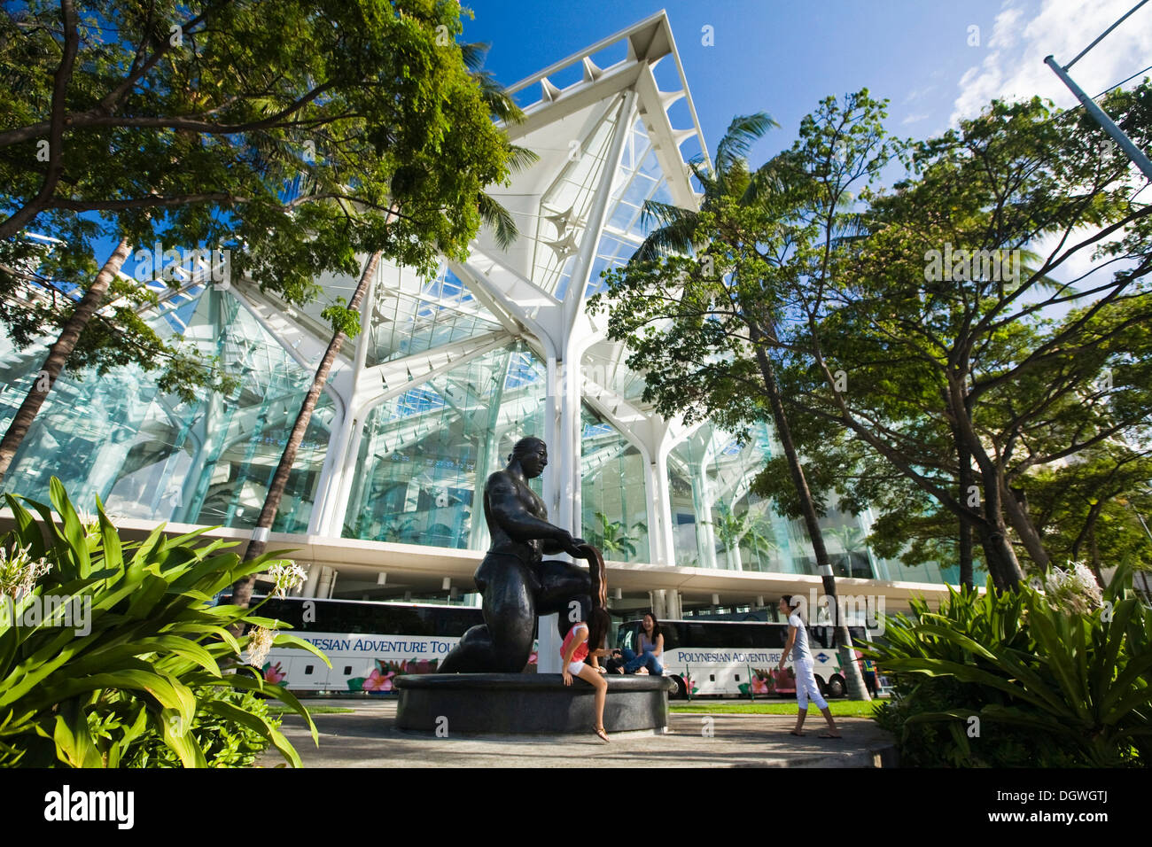 Hawaiian Convention Center, Honolulu, Hawai'i, USA - Stock Image