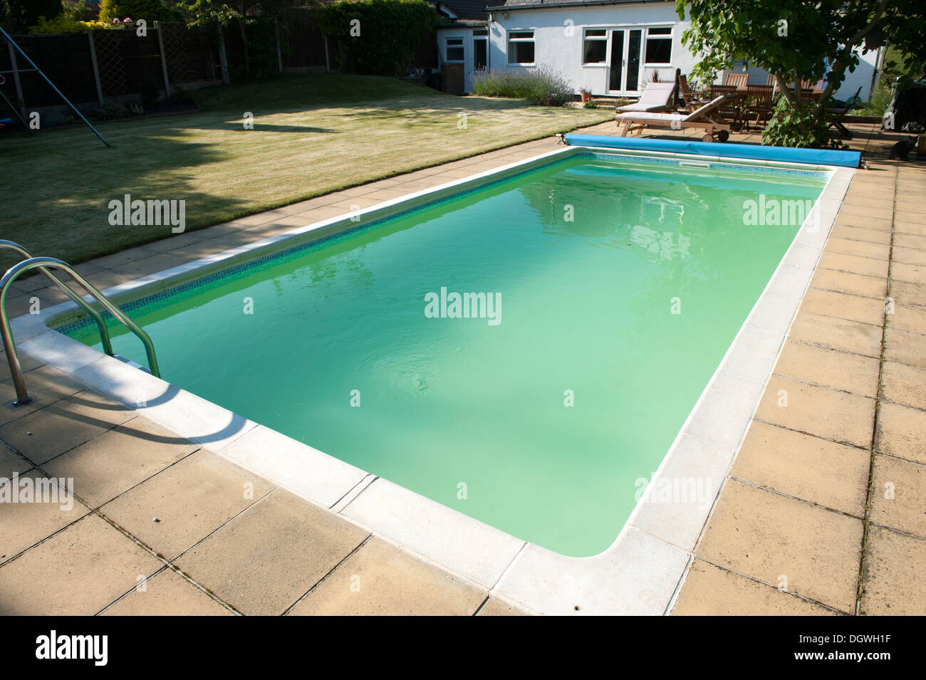 House Garden Large Swimming Pool Green Algae Cloudy Water Stock Photo 62027771 Alamy