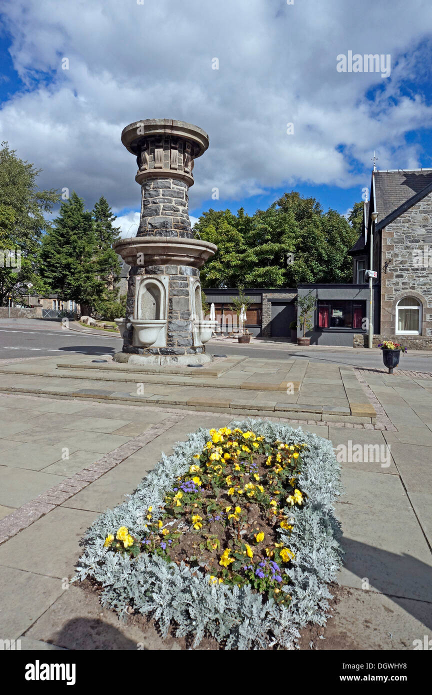 Mackenzie water Fountain in Station Road Kingussie Highland Scotland