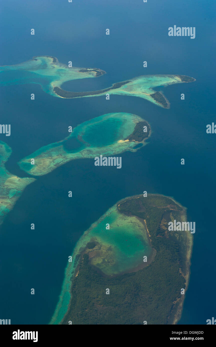 Aerial view, Russell Islands, Russell Islands, Central Province, Solomon Islands - Stock Image