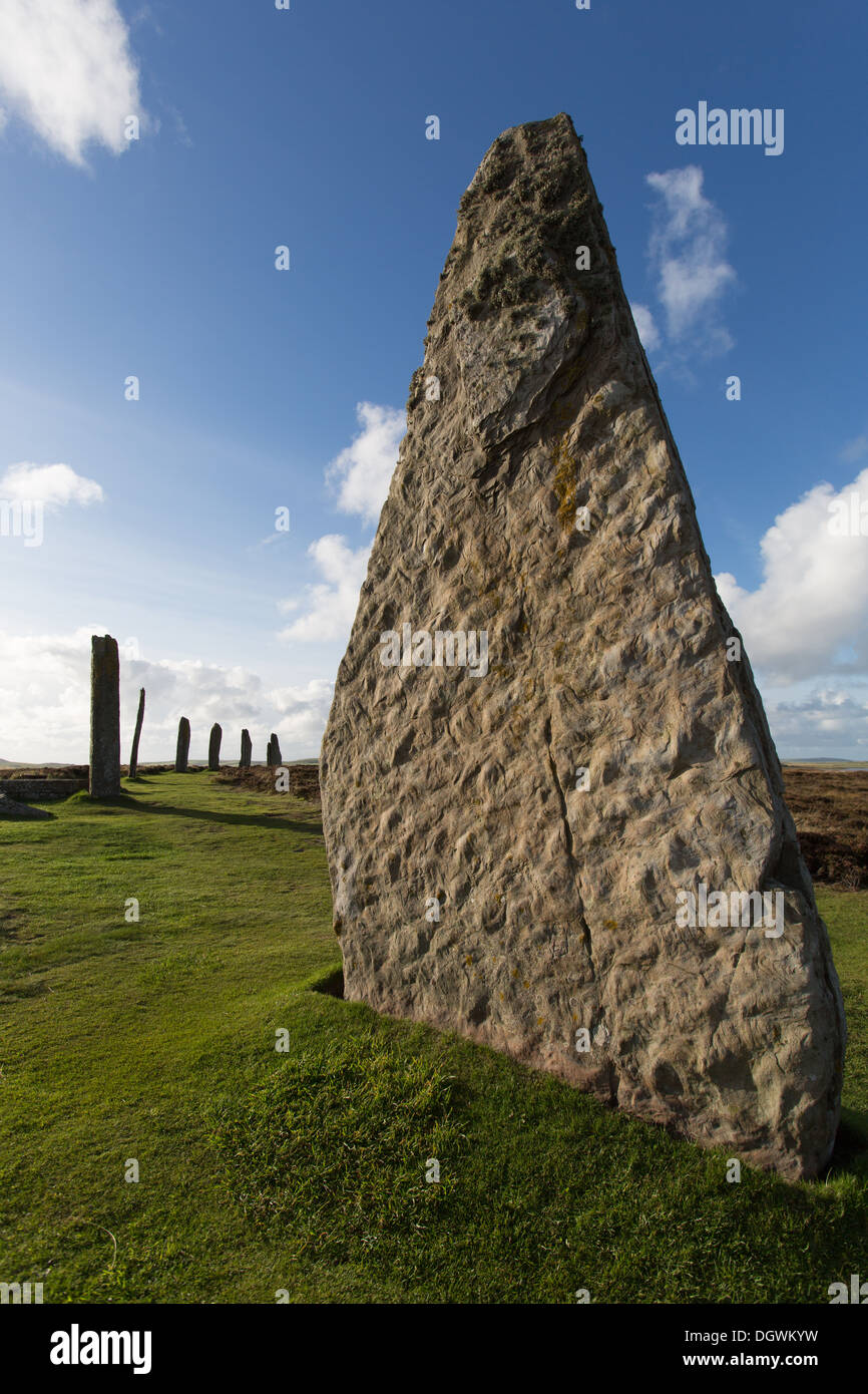 Islands of Orkney, Scotland. Picturesque view of Orkney's historic Ring of Brodgar. Stock Photo