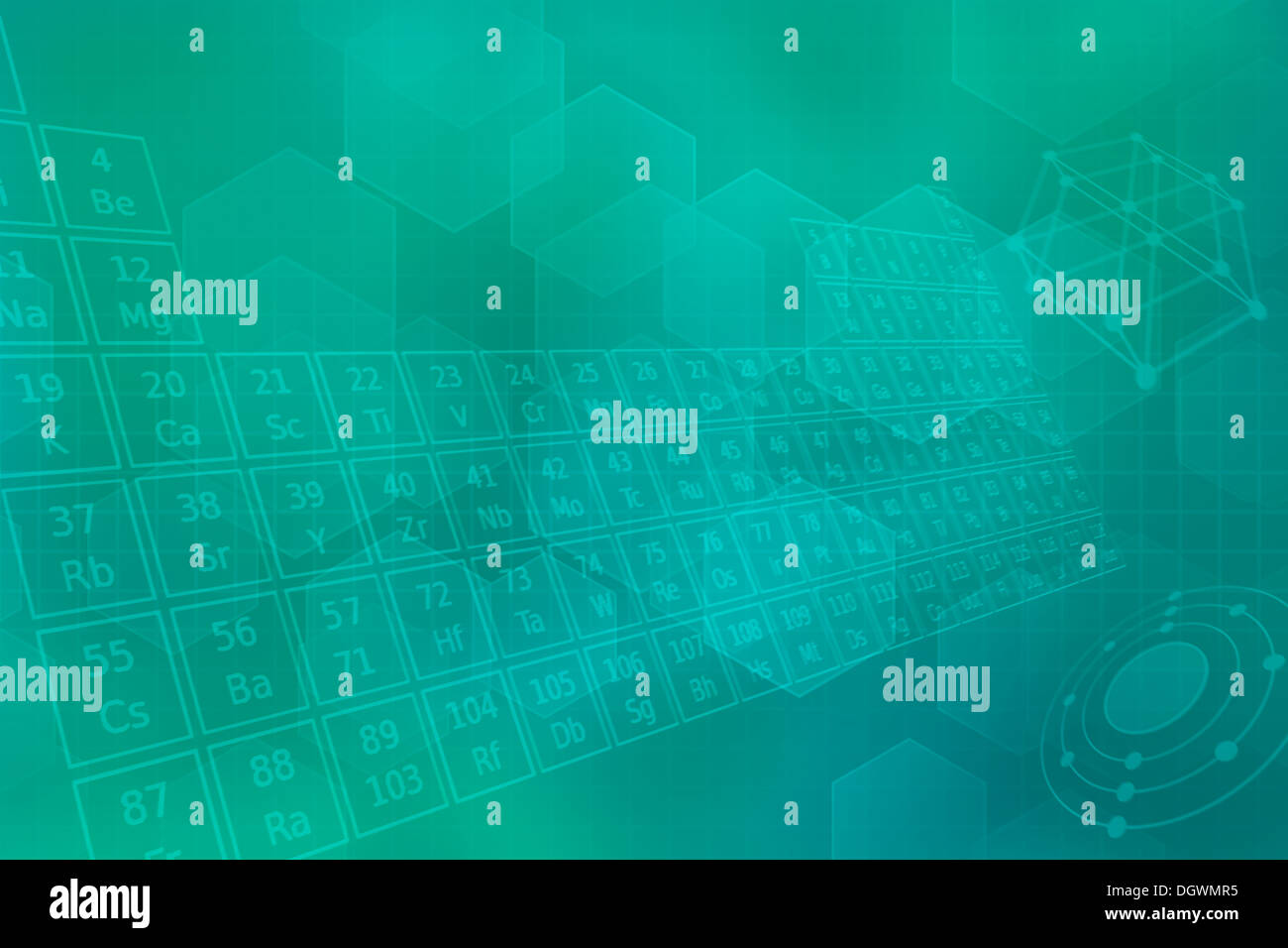 Turquoise futuristic background with the periodic table of elements turquoise futuristic background with the periodic table of elements urtaz Images