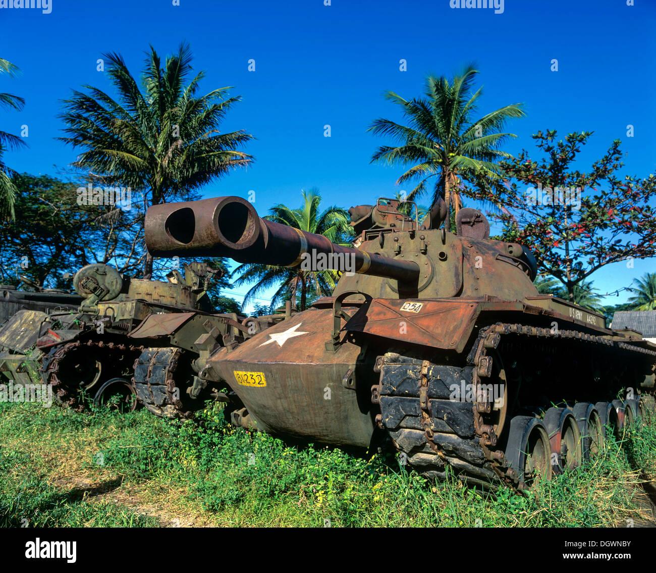 M48 tank from the U.S. Army, Hue, Provinz Thua Thien-Hue, Vietnam - Stock Image