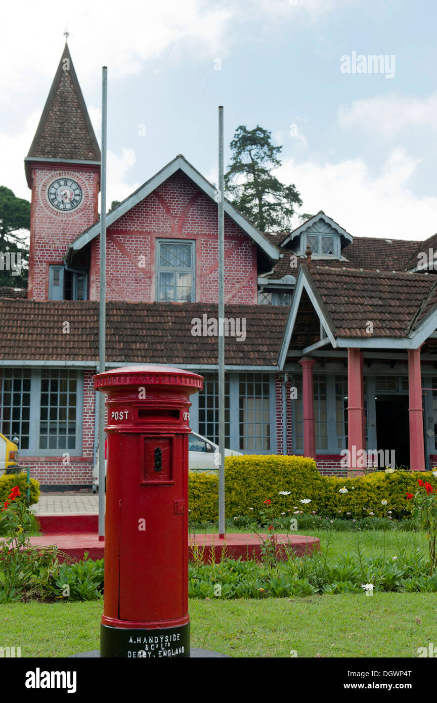 Old Post Office Building Red Pillar Box Brick Victorian Style House British Colonial Heritage Nuwara Eliya