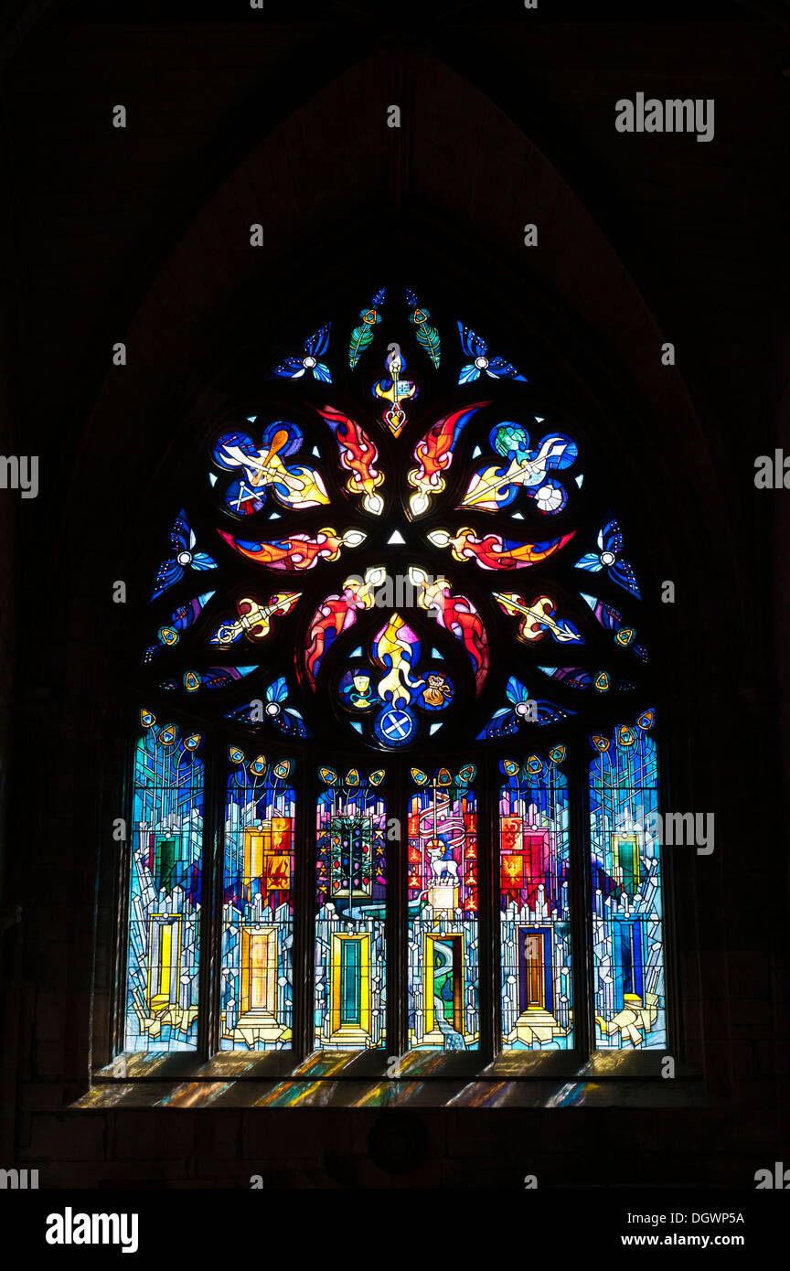 Large Stained Glass Window.Large Stained Glass Window Stock Photos Large Stained