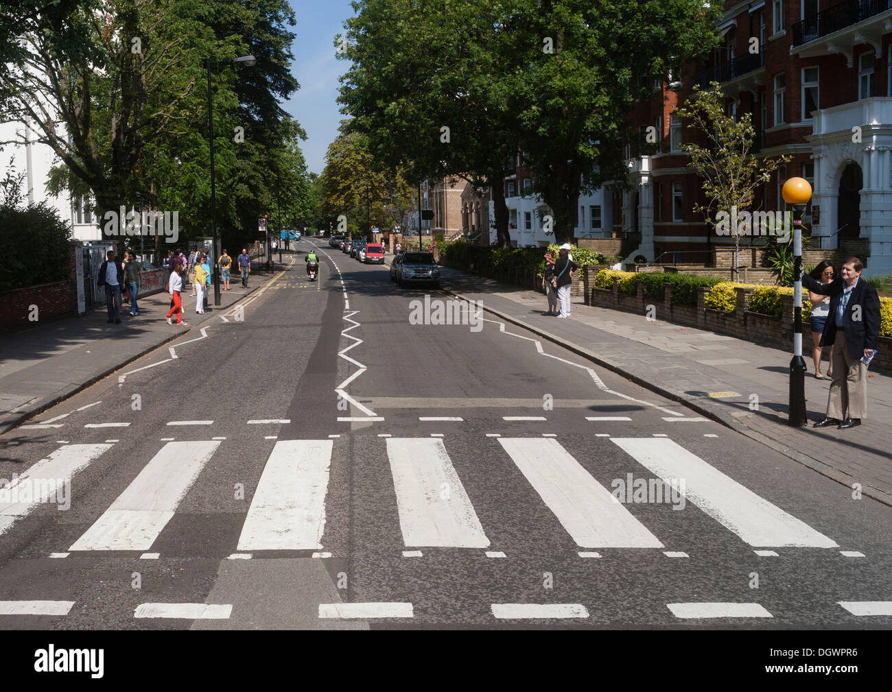 Zebra Crossing Of The Famous Beatles Album Cover Abbey Road London England United Kingdom Europe