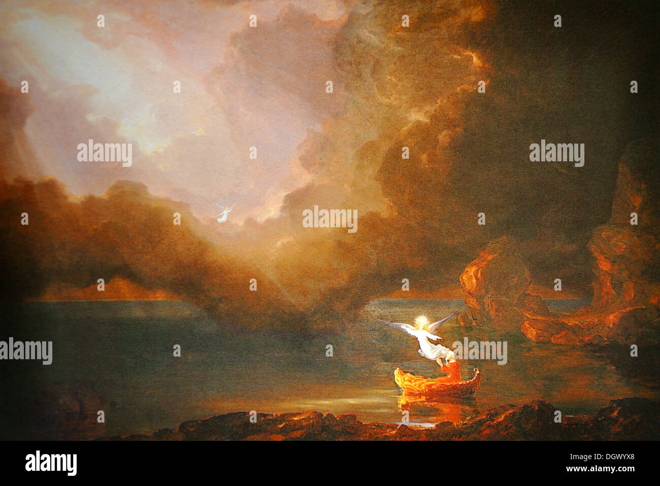 The Voyage of Life: Old Age - by Thomas Cole, 1842, Hudson River School - Stock Image