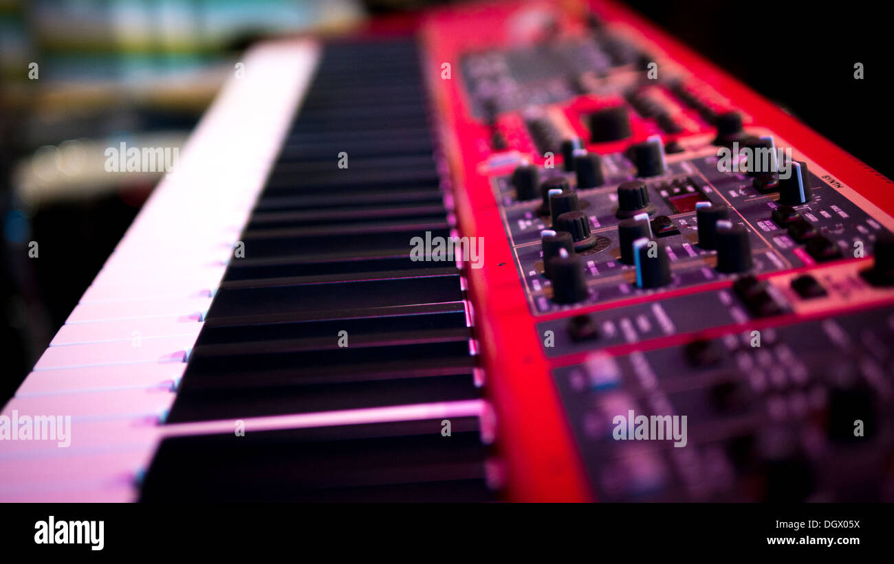 Keyboard, Synthesizer. - Stock Image