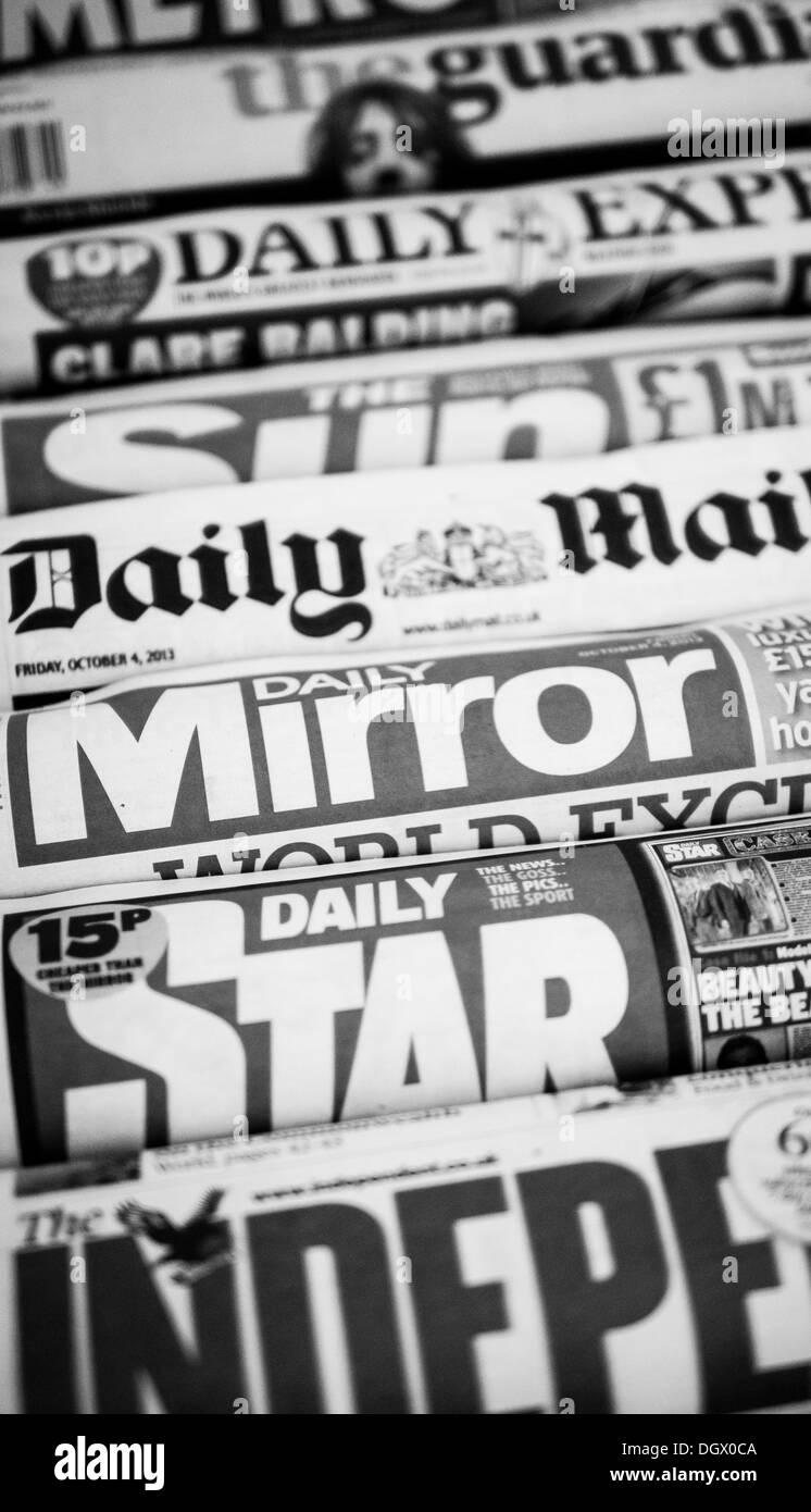 Uk Newspapers. Stock Photo