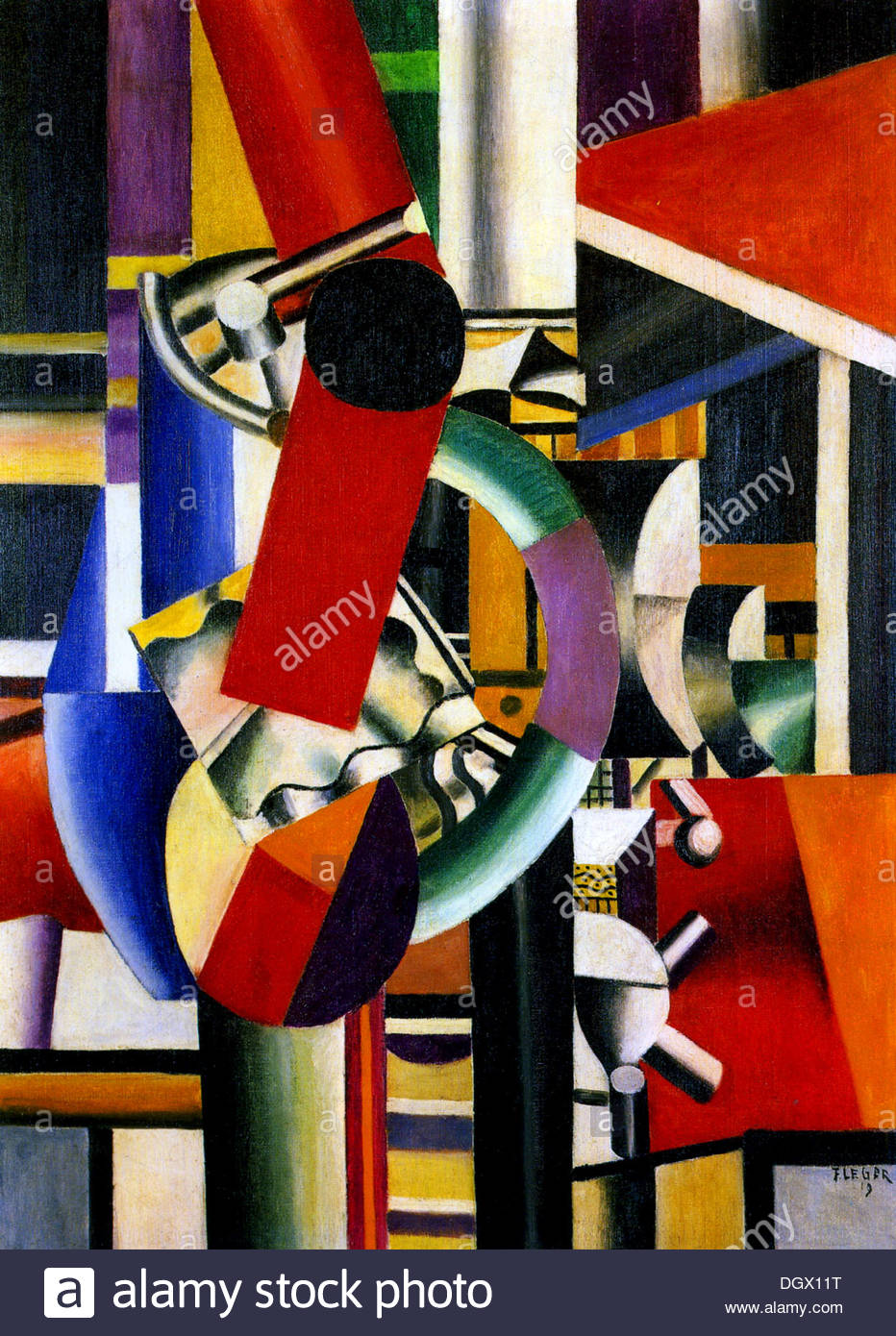 Still Life - by Fernand Léger, 1919 - Stock Image