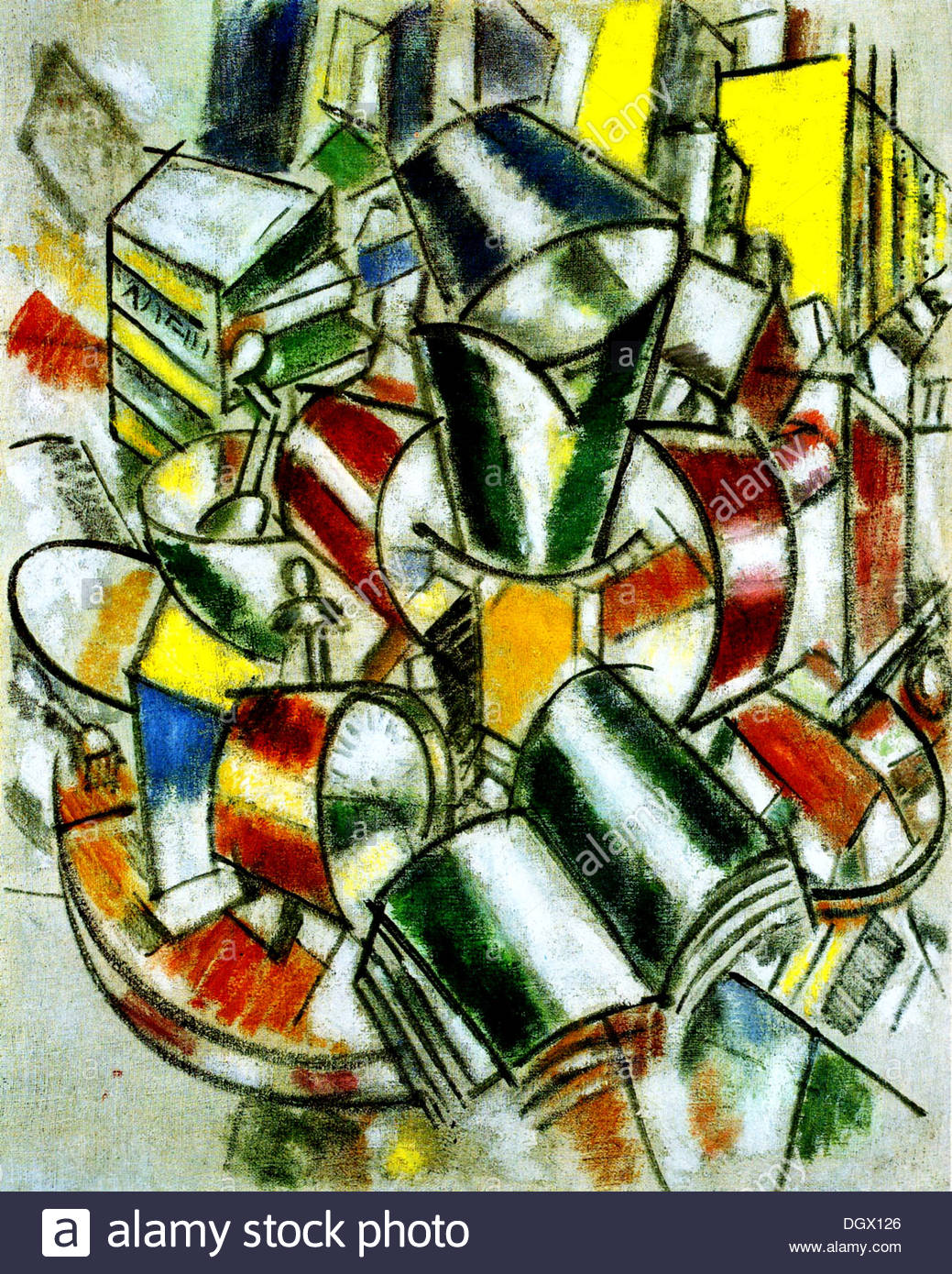 Still Life - by Fernand Léger, 1914 - Stock Image